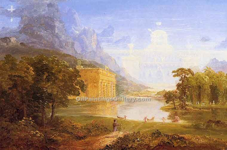 """The Pilgrim of the World on His Journey 35"" by  Thomas Cole"
