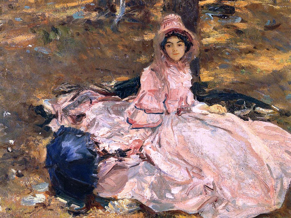The Pink Dress by John Singer Sargent | Modern Artists Paintings - Oil Paintings Gallery