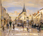 The Place of Saint jean in Nemours by  Jean Francois Raffaelli (Painting ID: CI-0365-KA)