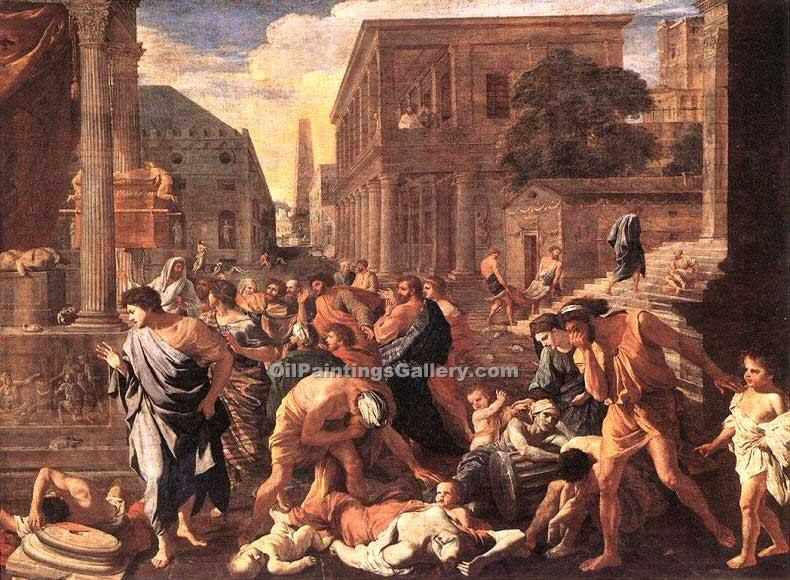 The Plague at Ashod by Poussin Nicolas | Classical Paintings - Oil Paintings Gallery
