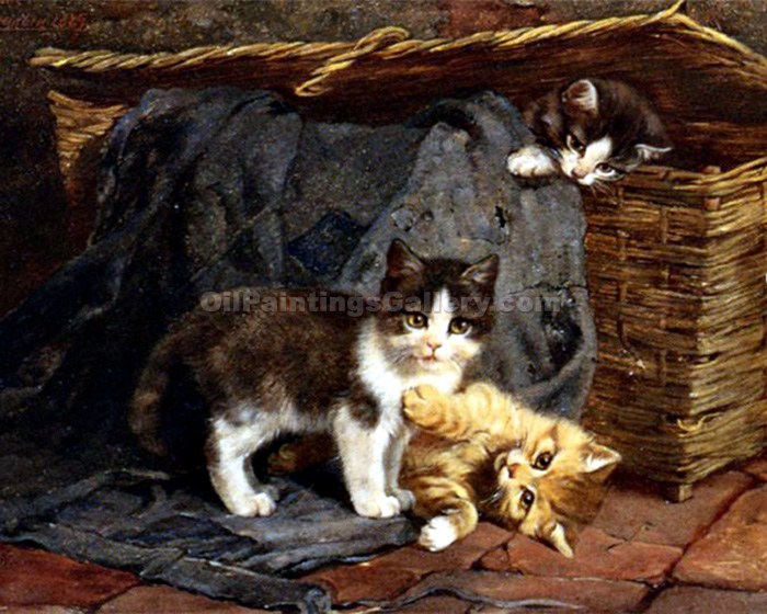 """The Playful Kittens"" by  Julius Adam"