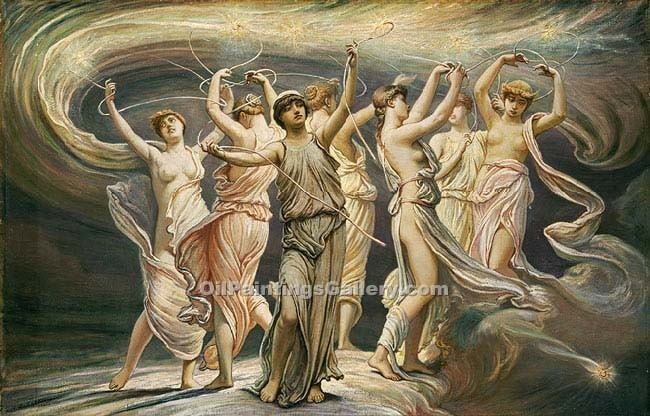 """The Pleiades"" by  Elihu Vedder"