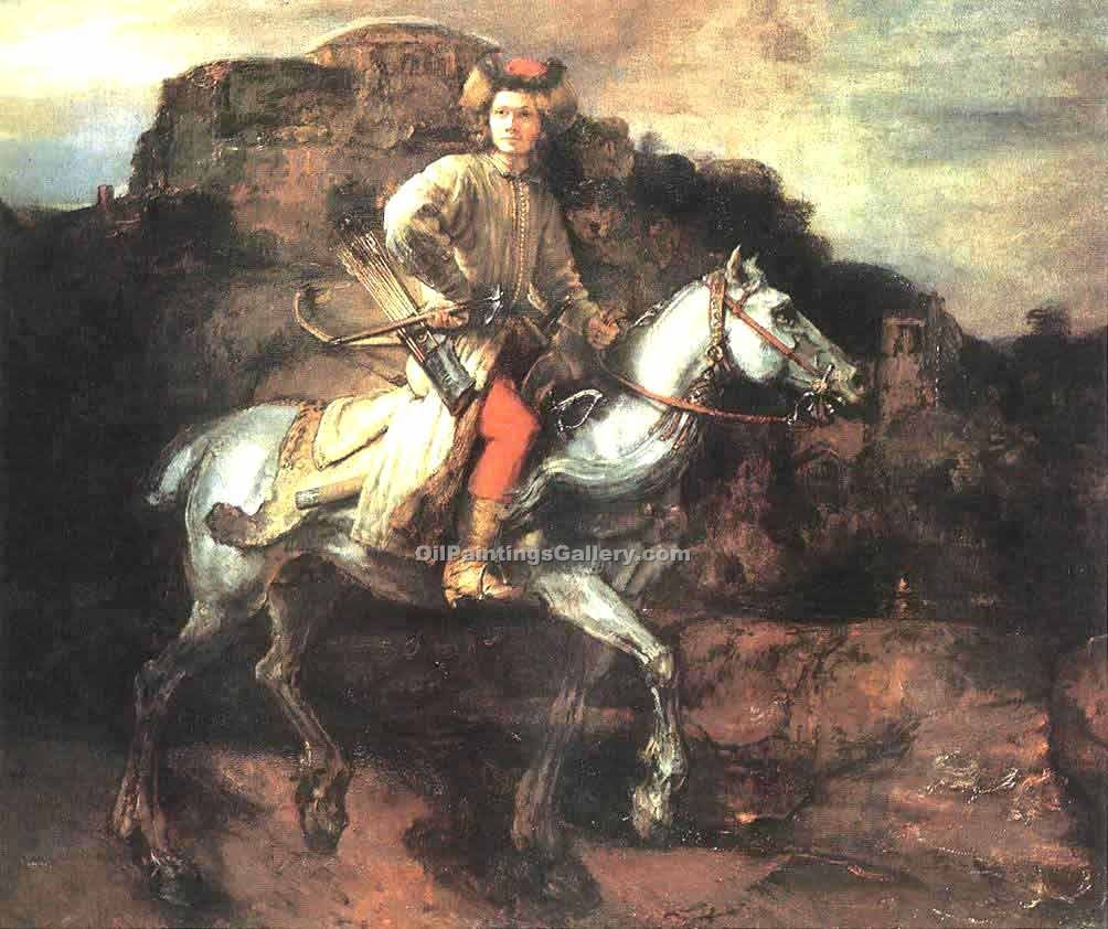 """The Polish Rider"" by  Harmenszoonvan Van Rijn Rembrandt"