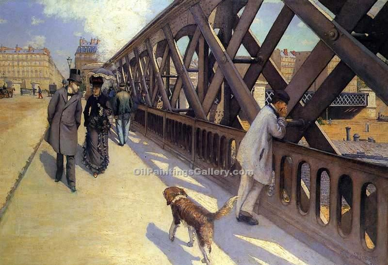 """The Pont du Europe"" by  Gustave Caillebotte"