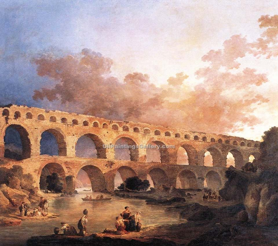 """The Pont du Gard France"" by  Hubert Robert"