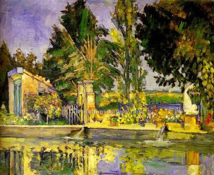 """The Pool"" by  Paul Cezanne"