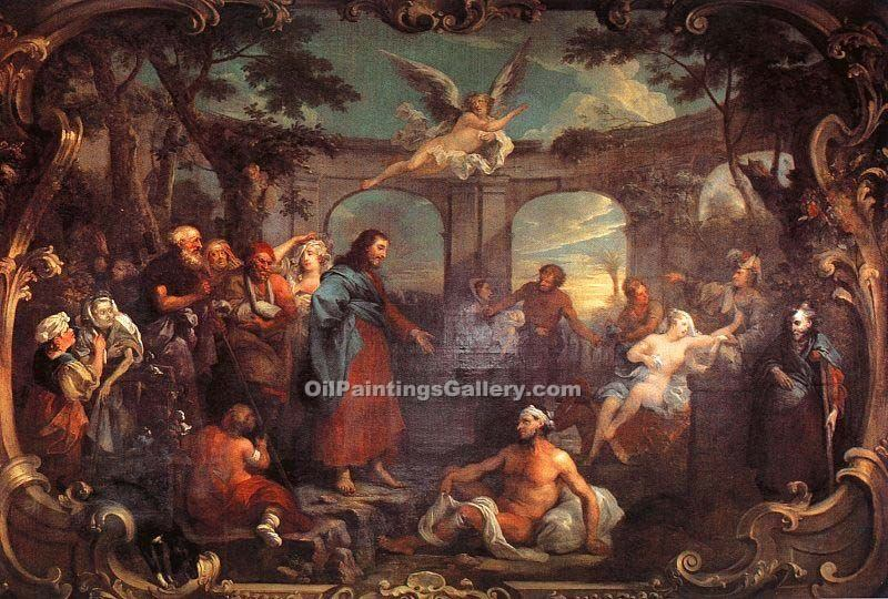 The Pool of Bethesda by WilliamHogarth | Painted Artwork - Oil Paintings Gallery