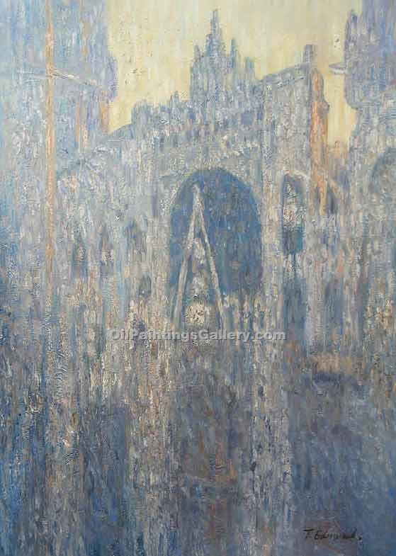 """The Portal of Rouen Cathedral in Morning Light"" by  Claude Monet"