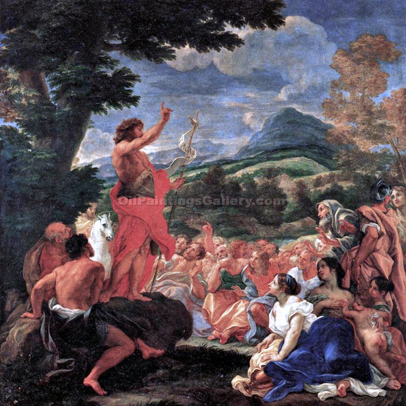 """The Preaching of Saint John the Baptist"" by  Baciccio"