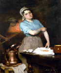 The Pretty Pastry Cook by  Claude Joseph Bail (Painting ID: CO-0065-KA)