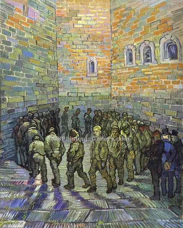 """The Prison Courtyard"" by  Vincent Van Gogh"