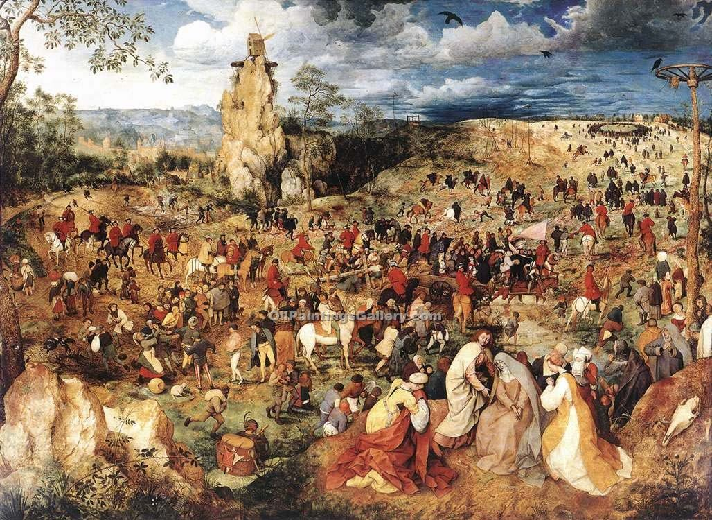 """The Procession to Calvary"" by  Pieter the Elder Brueghel"