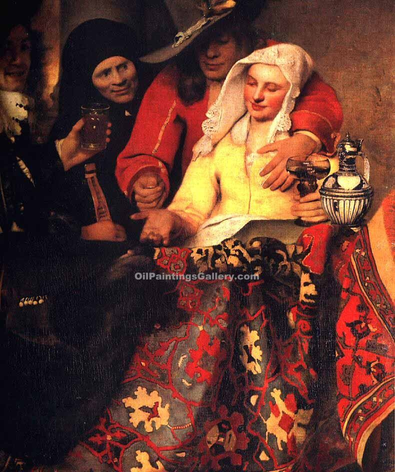 """The Procuress"" by  Jan Vermeer"