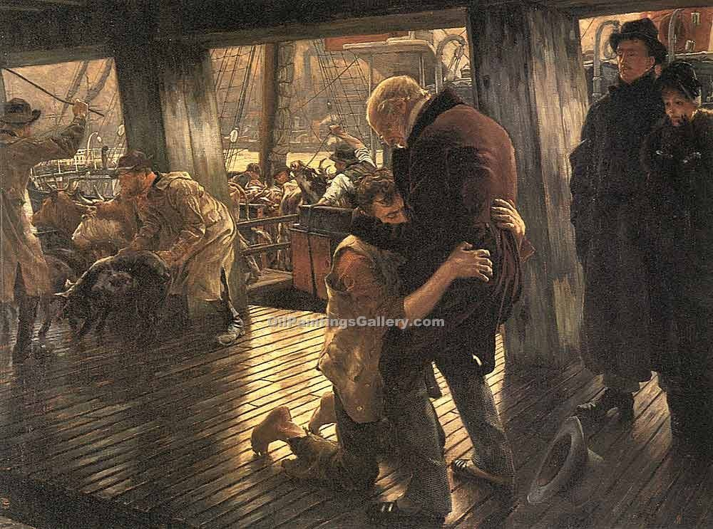 """The Prodigal Son the Return"" by  James Tissot"