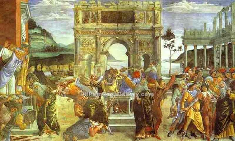 The Punishment of Korah by SandroBotticelli | Paintings On Canvas For Sale - Oil Paintings Gallery