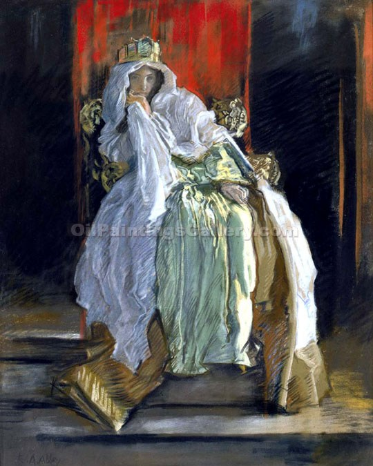 The Queen in Hamlet by Edwin AustenAbbey | Original Artworks - Oil Paintings Gallery