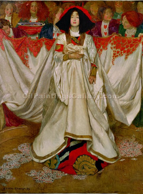 """The Queen of Hearts"" by  John Byam Liston Shaw"