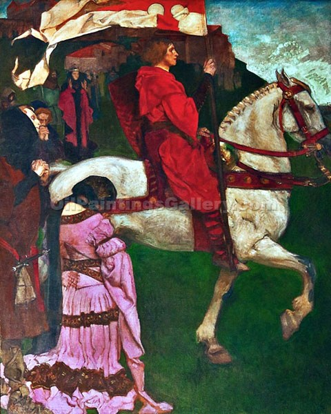 """The Quest for the Holy Grail"" by  Edwin Austen Abbey"
