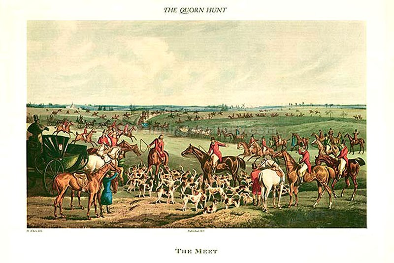 """The Quorn Hunt, The Meet"" by  Henry Thomas Alchen"