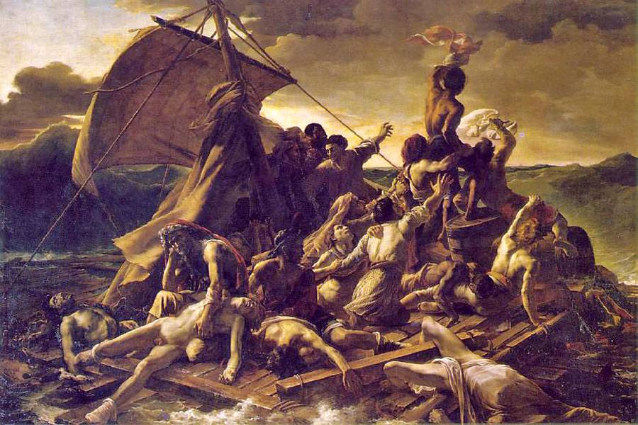 """The Raft of the Medusa"" by  Theodore Gericault"