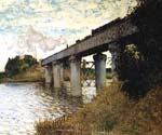 The Railway Bridge at Argenteuil by  Claude Monet (Painting ID: MO-1172-KA)