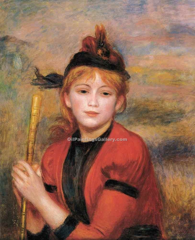 The Rambler by Pierre Auguste Renoir | Landscape Art - Oil Paintings Gallery