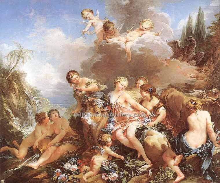 """The Rape of Europa 12"" by  Francois Boucher"
