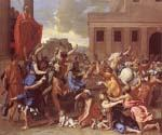 The Rape of the Sabine Women by  Nicolas Poussin (Painting ID: CM-1441-KA)