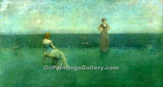 """The Recitation"" by  Thomas Wilmer Dewing"