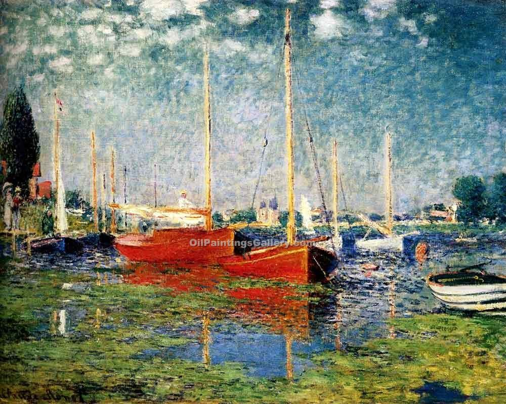 """The Red Boats Argenteuil"" by  Claude Monet"