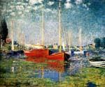 The Red Boats Argenteuil by  Claude Monet (Painting ID: MO-0885-KA)