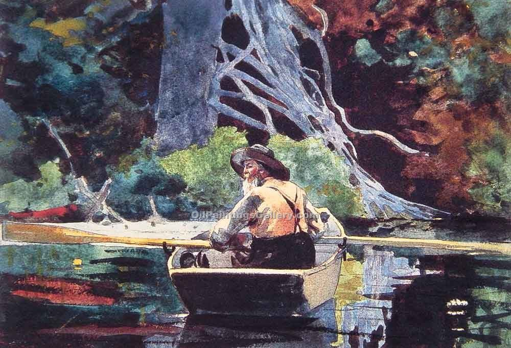 """The Red Canoe"" by  Winslow Homer"