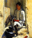 The Red Moccasins by  Walter Ufer (Painting ID: ED-0188-KA)