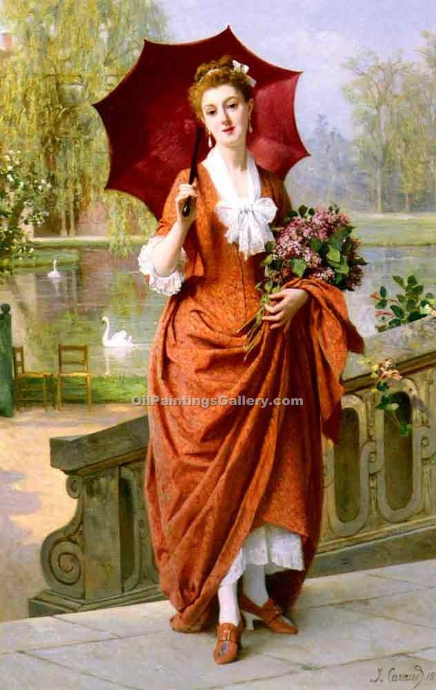 """The Red Parasol"" by  Joseph Caraud"