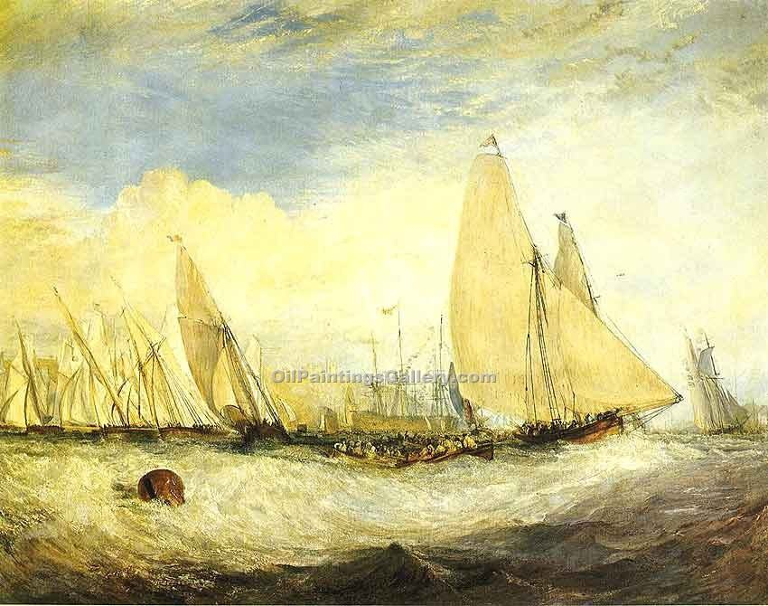 """The Regatta Beating to Windward"" by  William Turner"