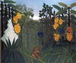 The Repast of the Lion by  Henri Rousseau (Painting ID: RO-0160-KA)