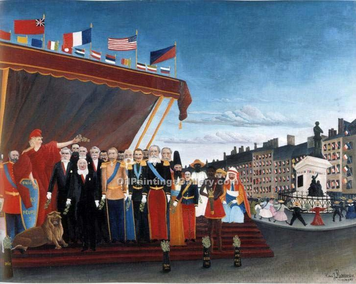 """The Representatives of Foreign Powers"" by  Henri Rousseau"