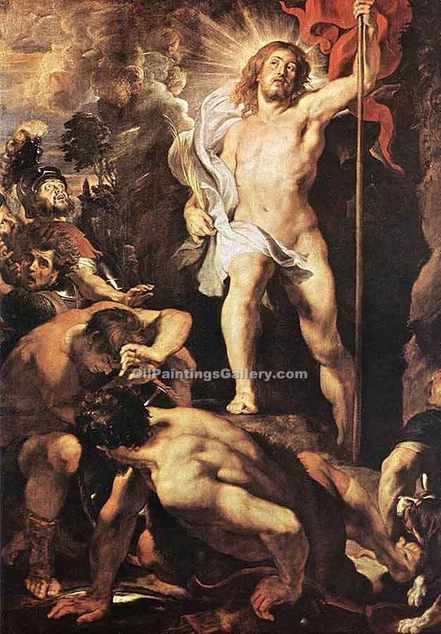 The Resurrection of Christ by Rubens Peter Paul | Artist Painting - Oil Paintings Gallery