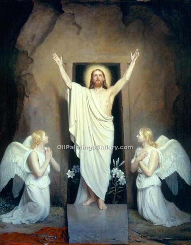 """The Resurrection"" by  Carl Heinrich Bloch"