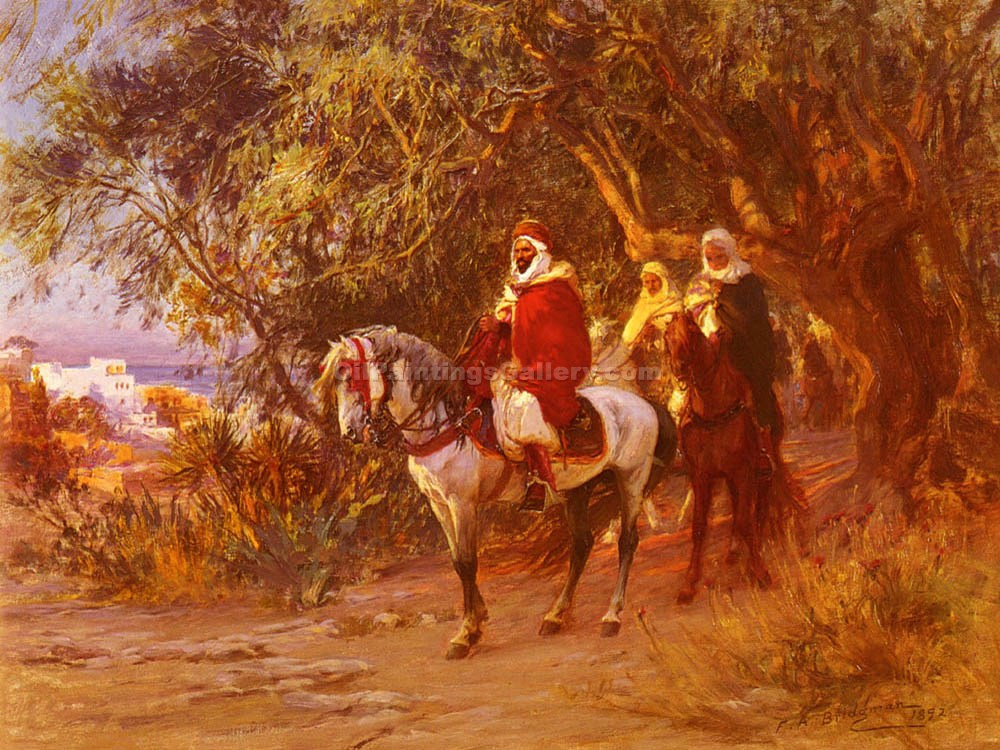 The Return by Frederick Arthur Bridgman | Abstract Art Online - Oil Paintings Gallery