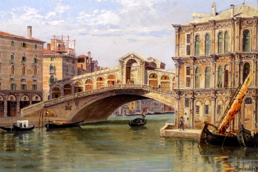 """The Rialto Bridge"" by  Antonietta Brandeis"