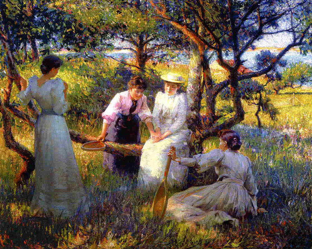 """The Ring"" by  Robert Vonnoh"