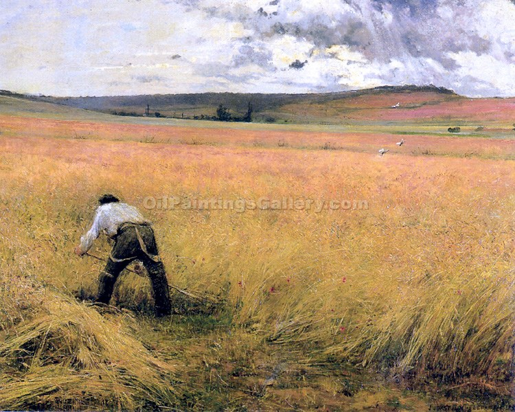 """The Ripened Wheat"" by  Jules Bastien Lepage"