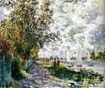 The Riverbank at Gennevilliers by  Claude Monet (Painting ID: MO-0889-KA)