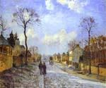 The Road to Louveciennes by  Camille Pissarro (Painting ID: LA-0928-KA)