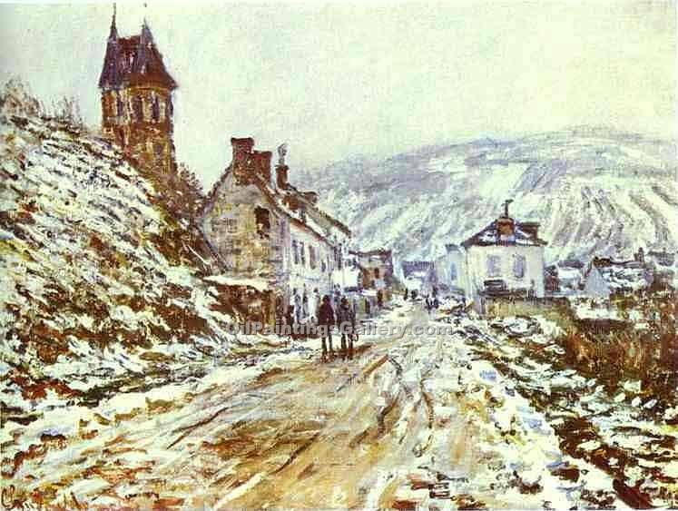 """The Road to Vetheuil"" by  Claude Monet"