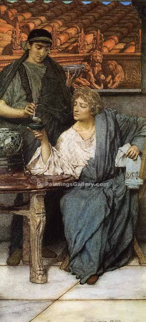 """The Roman Wine Tasters"" by  Sir Lawrence Alma Tadema"