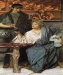 The Roman Wine Tasters by  Sir Lawrence Alma Tadema (Painting ID: EI-1255-KA)