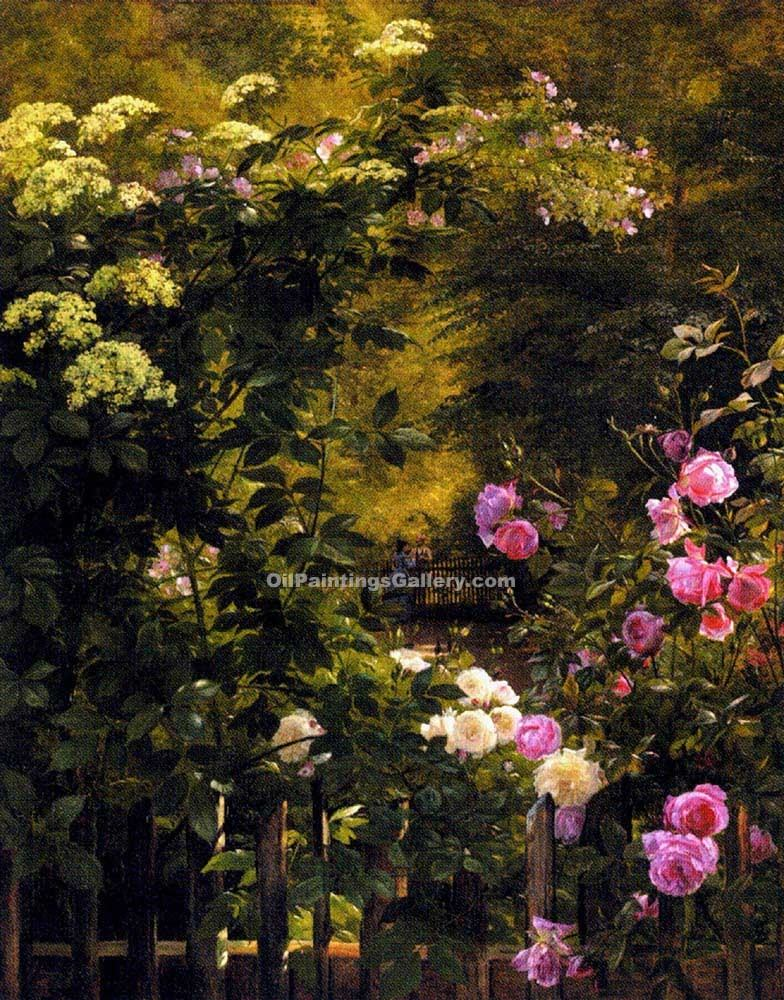 """The Rose Garden"" by  Carl Frederic Aagaard"