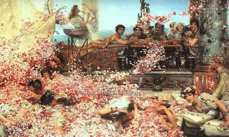 The Roses of Heliogabalus by Sir LawrenceAlma Tadema | Handmade Oil Paintings - Oil Paintings Gallery